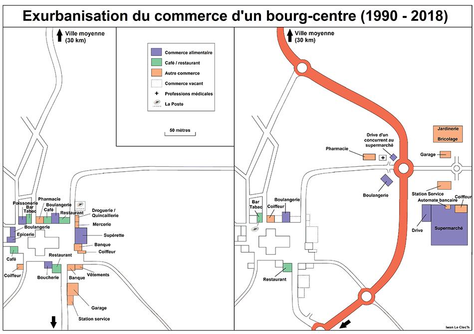 Iwan Le Clec'h — disparition du commerce gros bourg