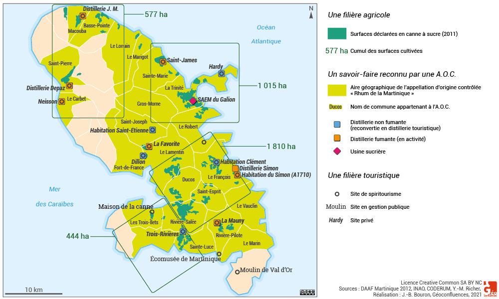 Martinique – canne et rhum en Martinique spiritourisme