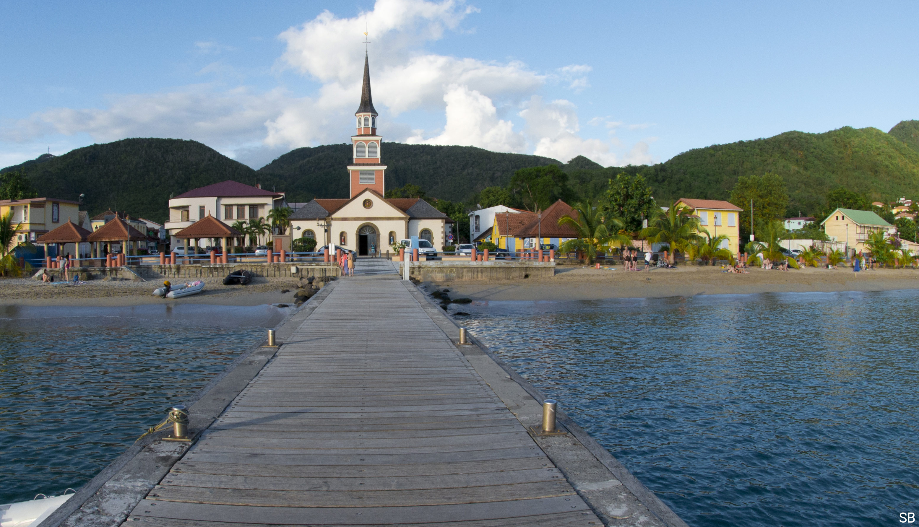 Bourgeat et Bras — Les Anses d'Arlet, Martinique, vue du clocher
