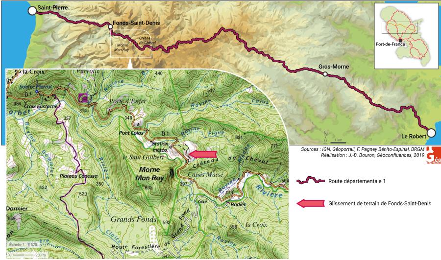 Françoise Pagney Bénito-Espinal – carte glissement de terrain de Fonds-Saint-Denis