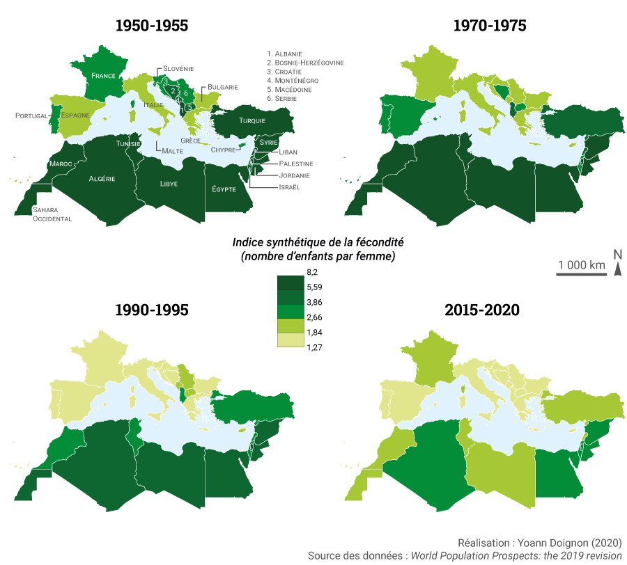 Yoann Doignon — carte indice fécondité bassin méditerranéen