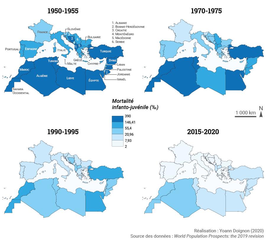 Yoann Doignon — carte mortalité infantile bassin méditerranéen