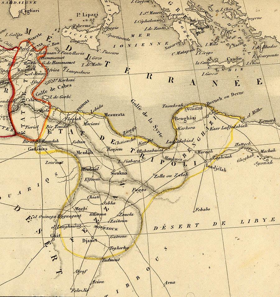 Carte Libye 1840