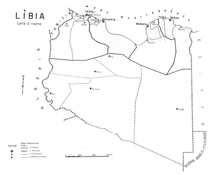Carte Libye 1921