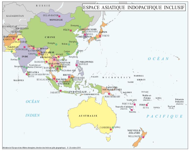 espace asiatique indopacifique