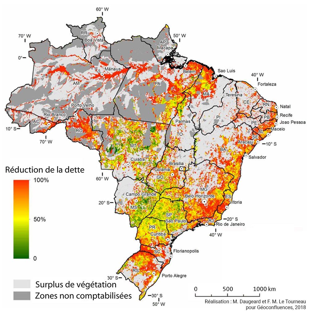 Marion Daugeard, Michel-François Le Tourneau — carte dette environnementale au Brésil