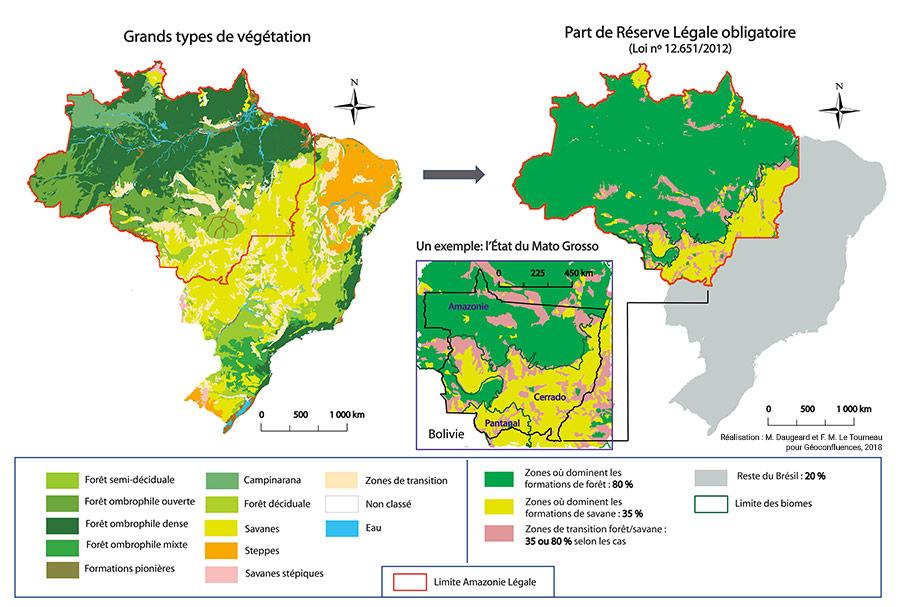 Marion Daugeard, Michel-François Le Tourneau — réserve légale et déforestation au brésil