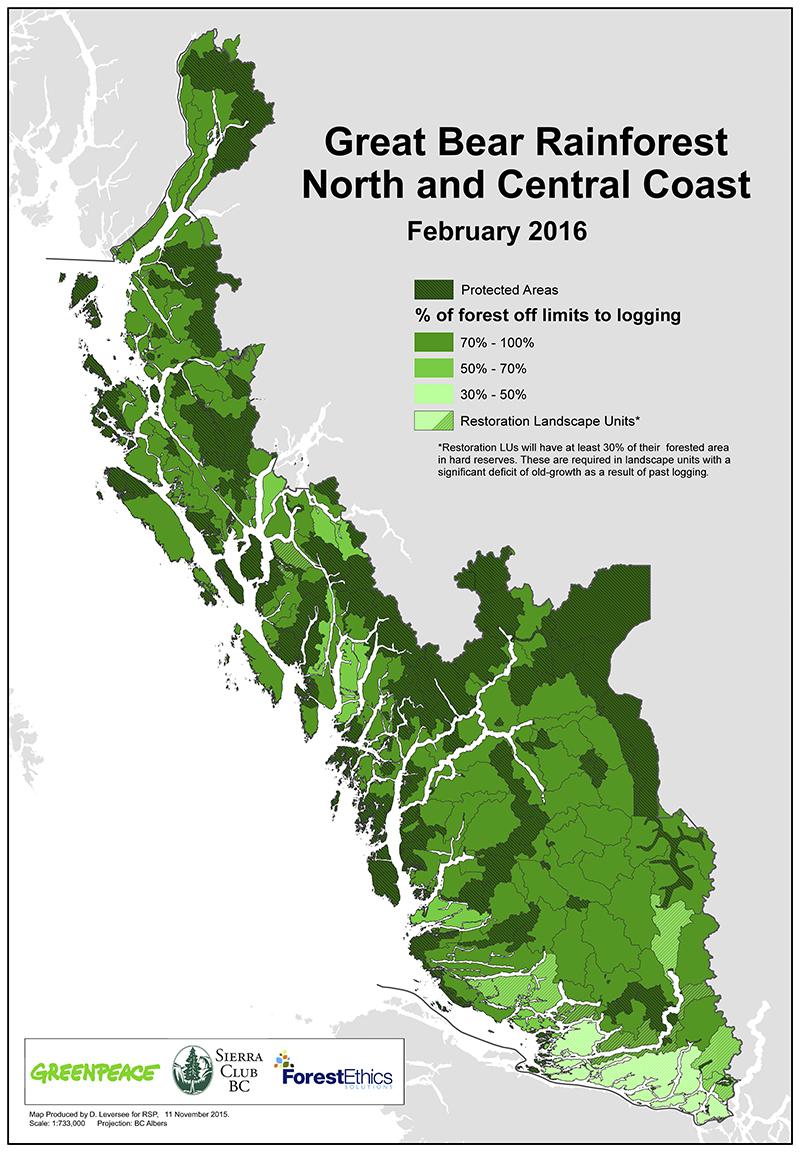 Carte protection de la forêt