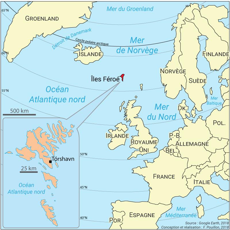 Fabien Pouillon — carte localisation des Féroé
