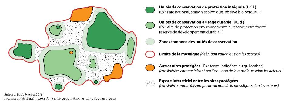 Lucie Morère — schéma théorique mosaïque d'aires protégées