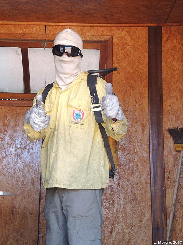 Lucie Morère — photographie Pompier de la brigade de prévention et de combat des feux de forêt