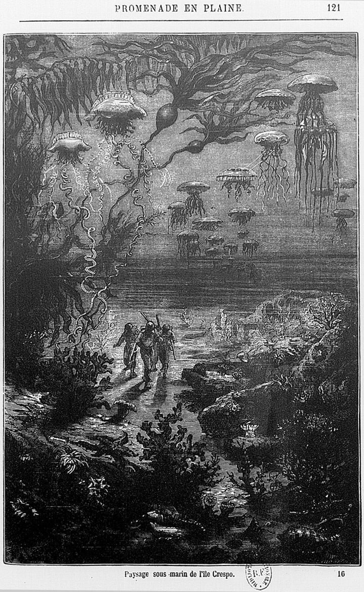 Jules Verne paysage sous-marin