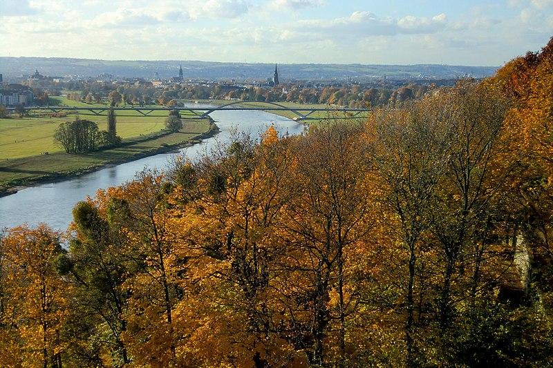 Vallée de l'Elbe à Dresde