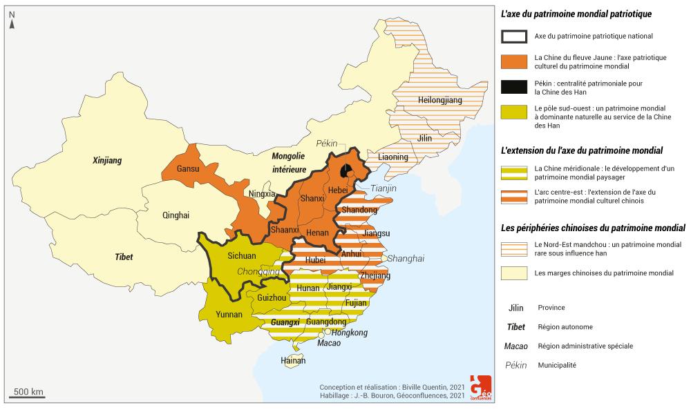 Quentin Biville — instrumentalisation par l'état du patrimoine Chine carte