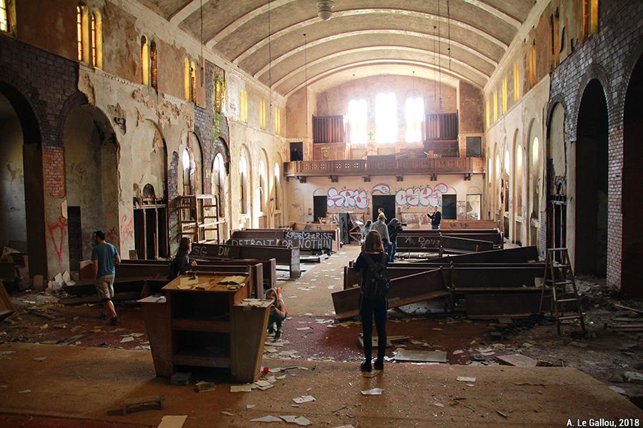 Aude Le Gallou — détroit tourisme de ruine église
