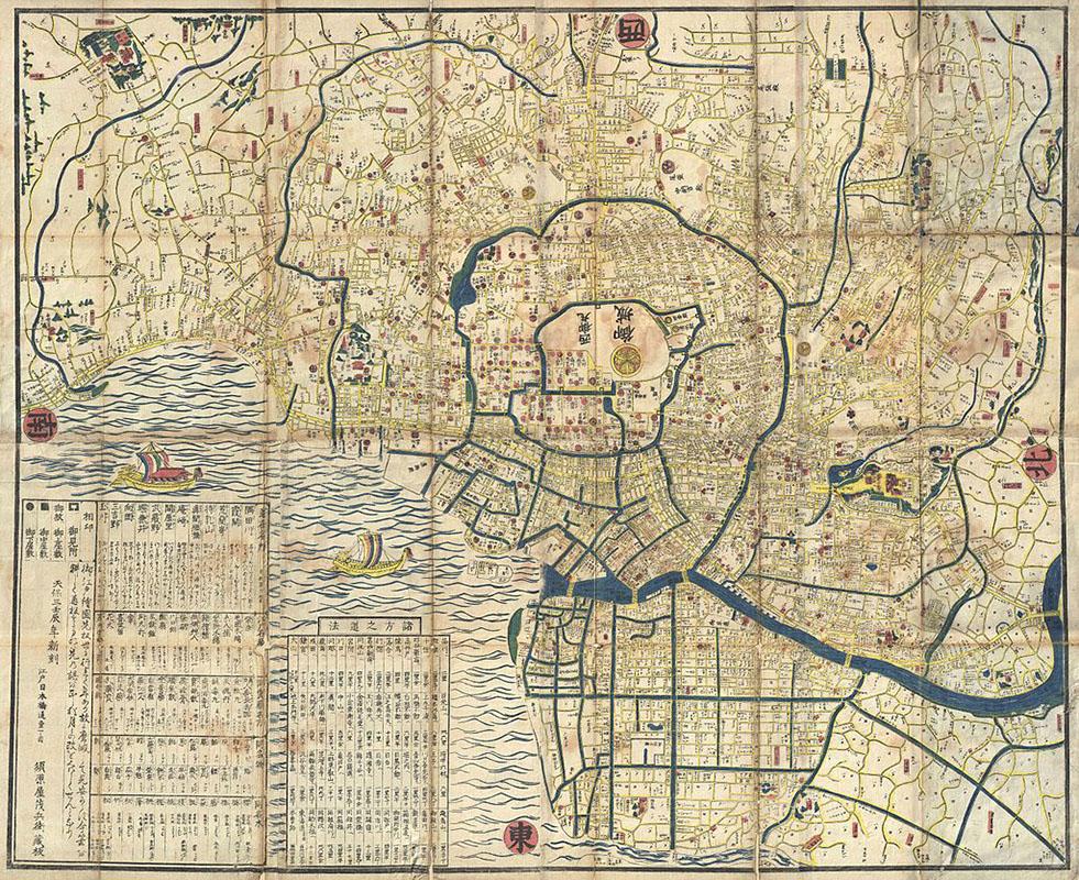 Raphaël Languillon-Aussel — ancienne carte de Tokyo Edo
