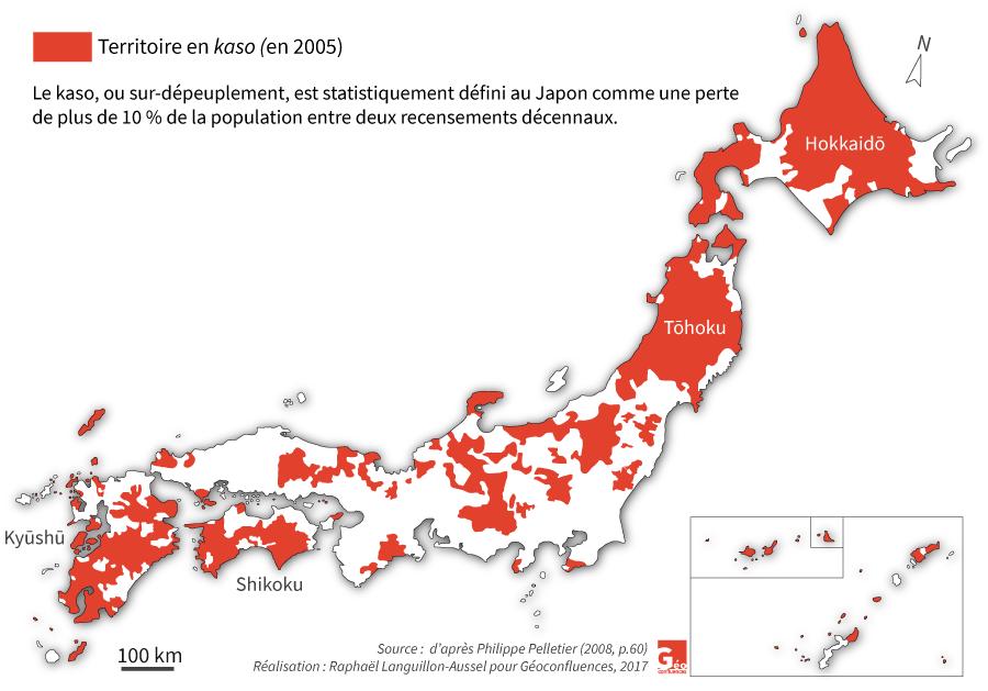 Raphaël Languillon-Aussel — carte Territoires en surdépeuplement au Japon