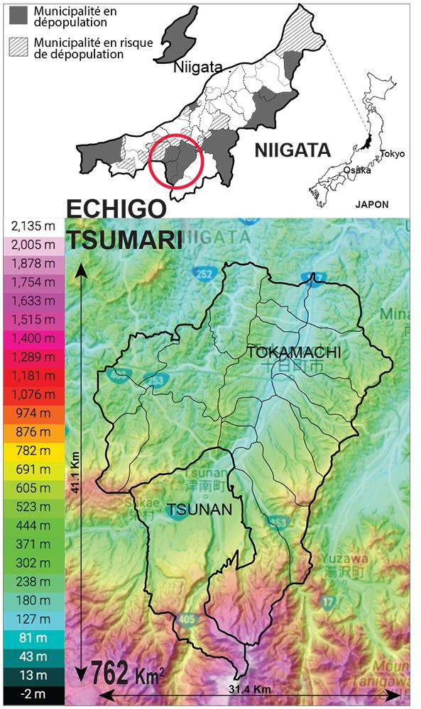 Thekla Boven — carte localisation de Echigo Tsumari