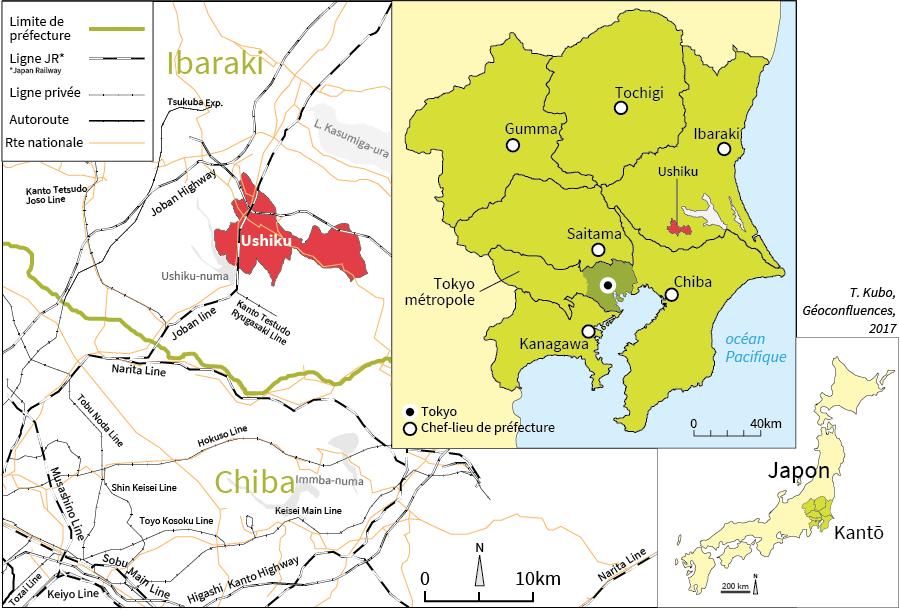 Tomoko Kubo — carte de localisation d'Ushiku