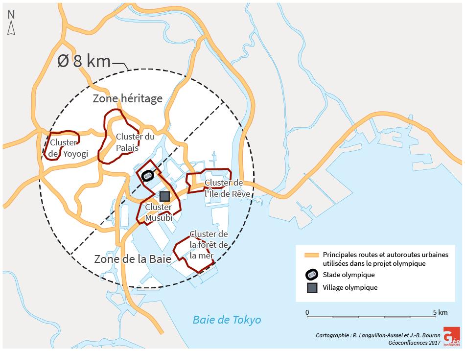 Raphaël Languillon-Aussel – Projet olympique Tokyo carte plan