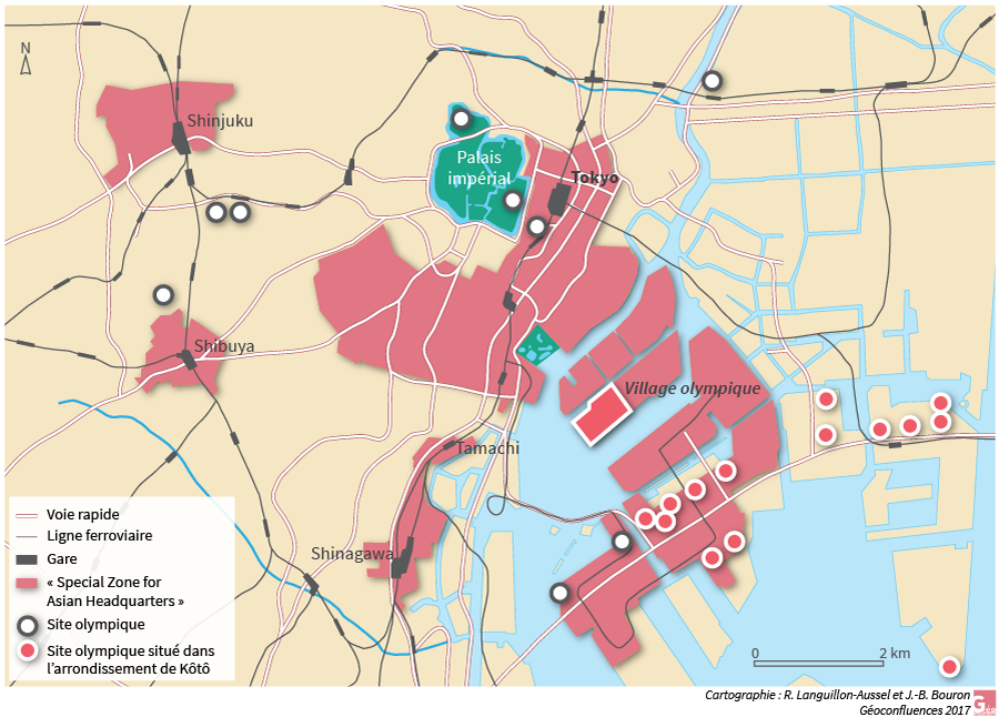 Raphaël Languillon-Aussel – Village olympique Tokyo carte plan
