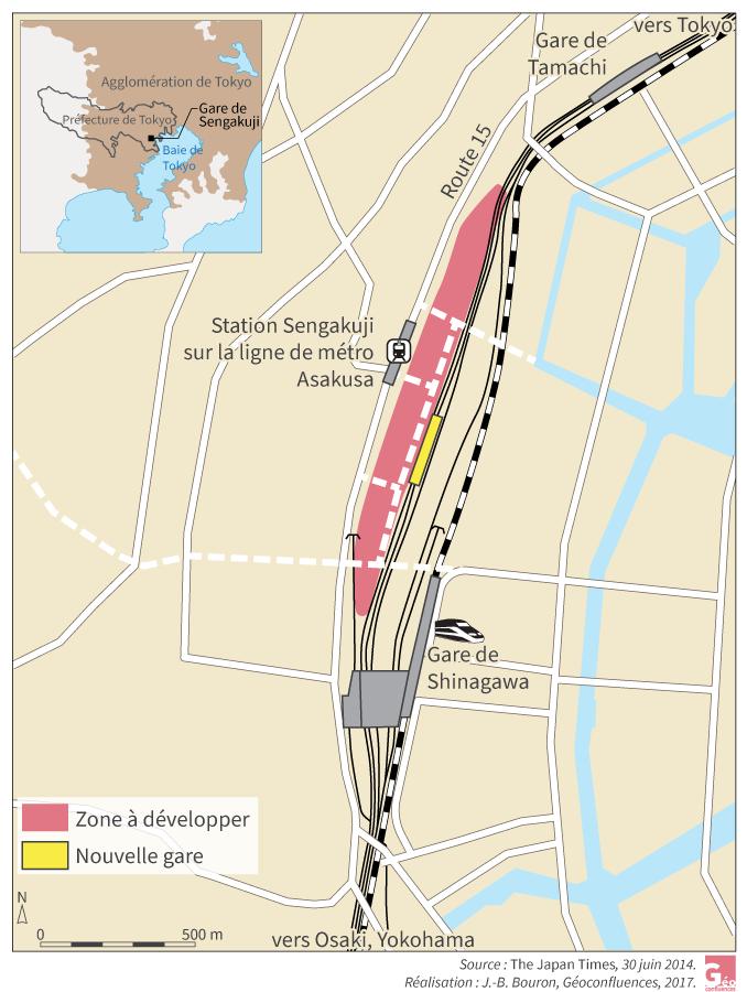 JB-Bouron – nouvelle gare sengakuji Tokyo plan