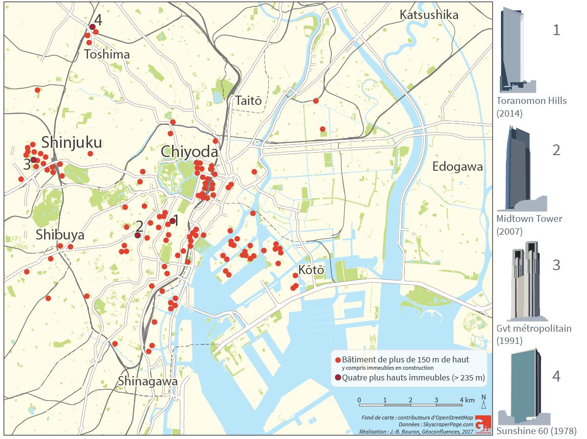 Raphaël Languillon-Aussel — verticalité carte immeubles à Tokyo