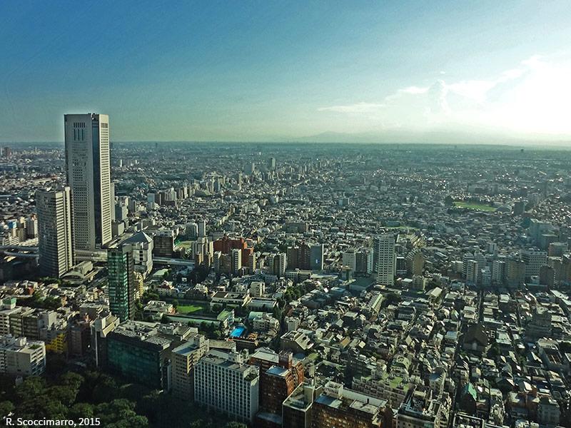 photographie aérienne oblique de la verticalisation de la skyline de Tokyo, Scoccimarro 2015