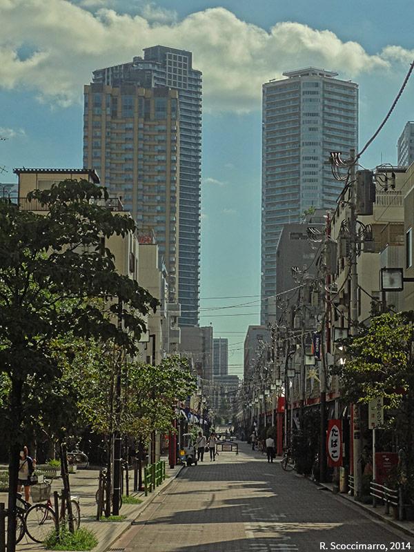 Photographie rue commerçante de Nishi Nakdori