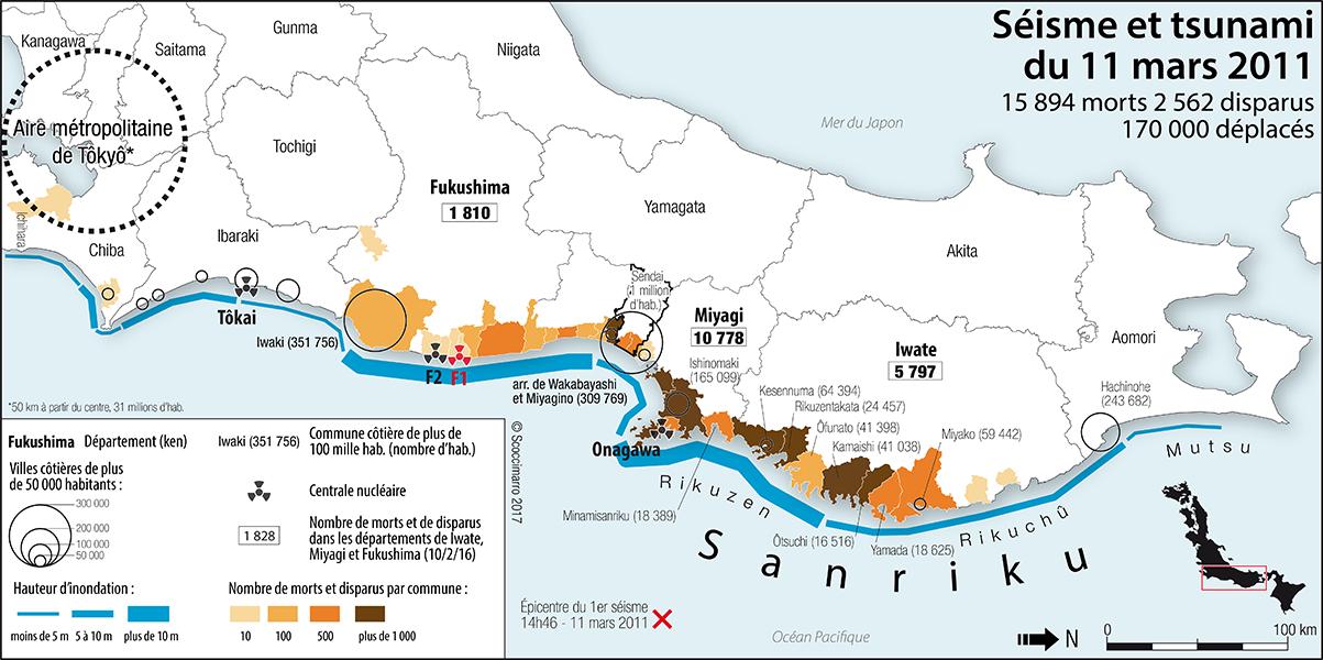 Rémi Scoccimarro — Carte séisme et tsunami 11 mars 2011
