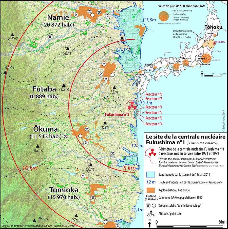 Rémi Scoccimarro — Carte Fukushima et le Tohoku