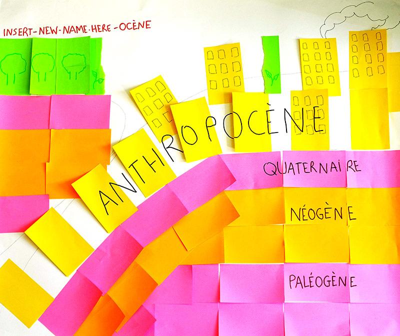 Julie Le Gall – anthropocène, chronologie, travaux d'étudiants
