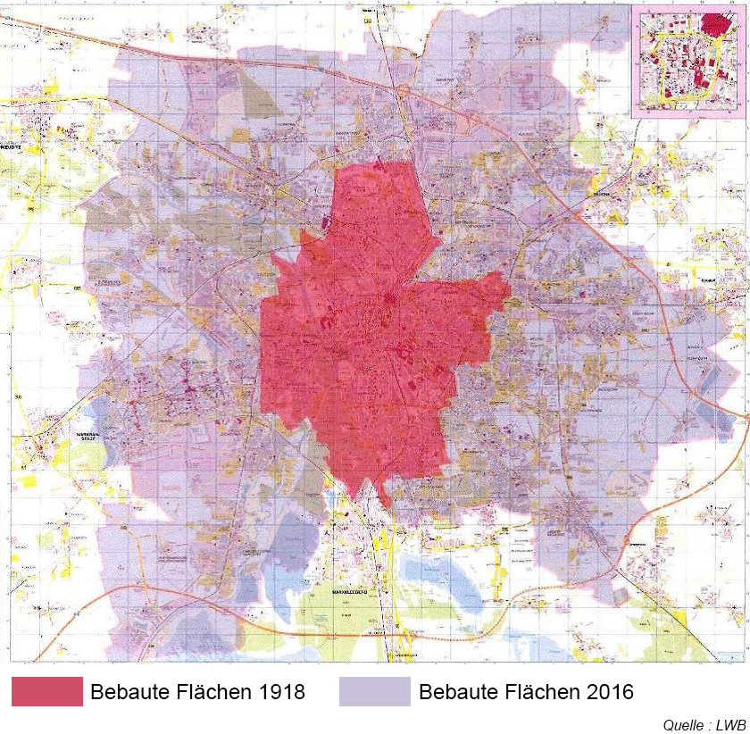 carte Leipzig perte population mais etalement urbain