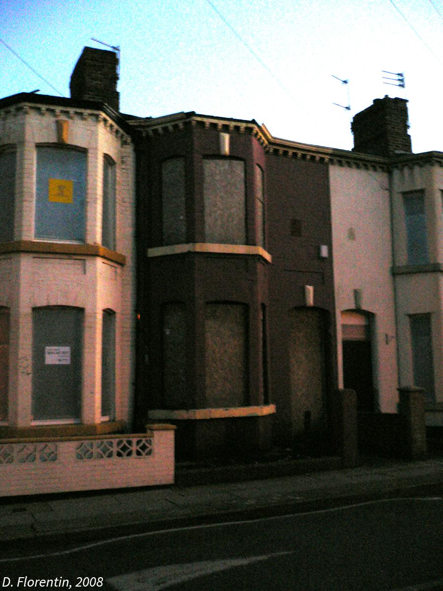 photographie Liverpool maisons murées