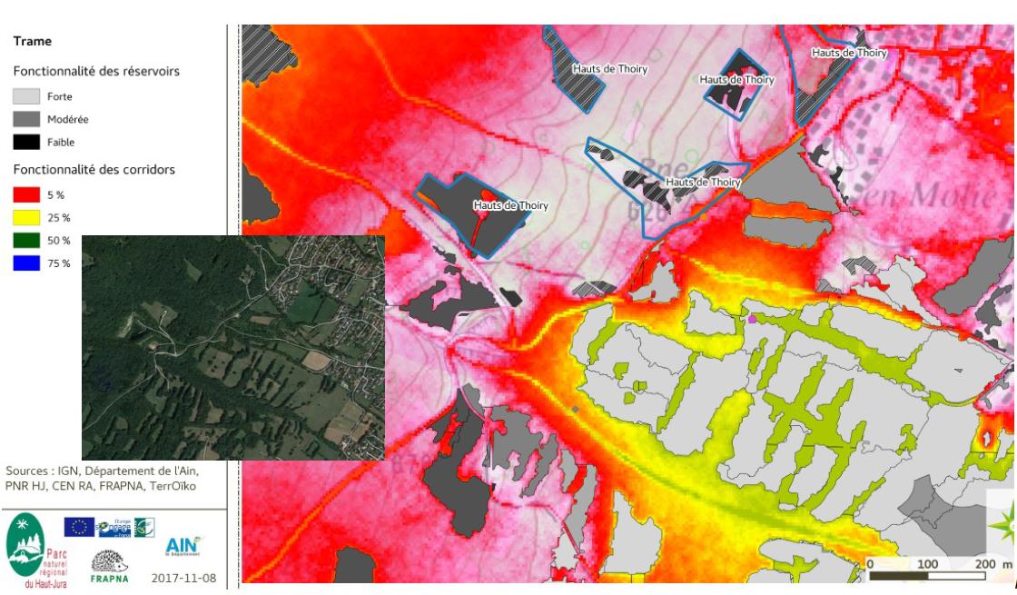 Émilie Genelot — carte corridors écologiques PNR haut-jura