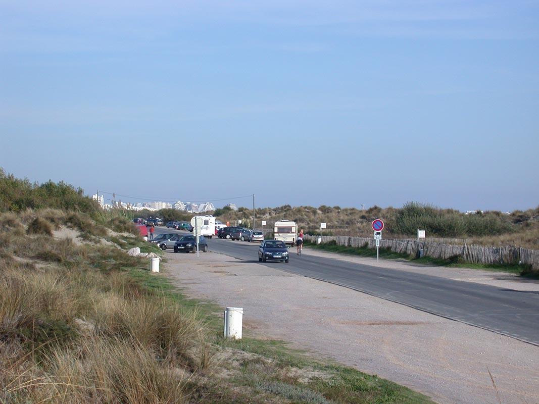 route littorale languedoc photographie avant aménagement