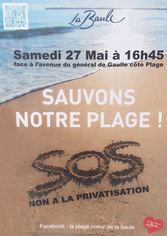"""affiche rassemblement contre la """"privatisation"""""""