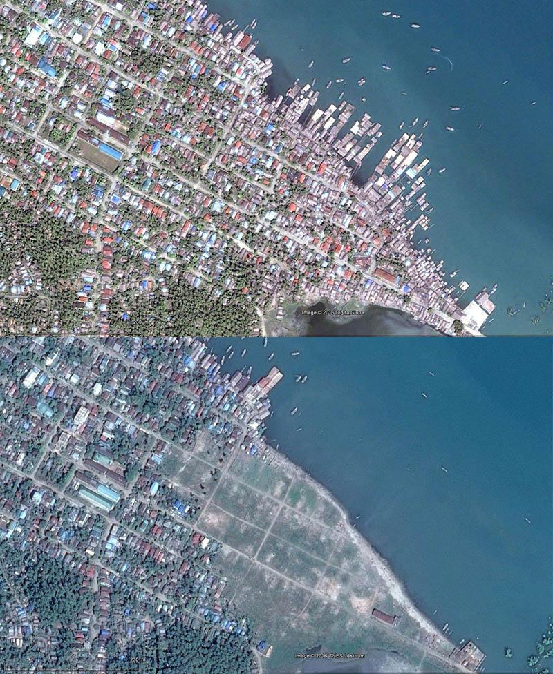 Kyaukphyu : la destruction de quartiers entiers