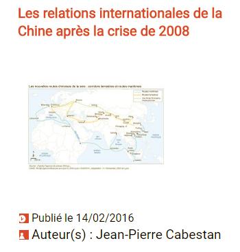 Relations internationales de la Chine : cliquez pour lire l'article