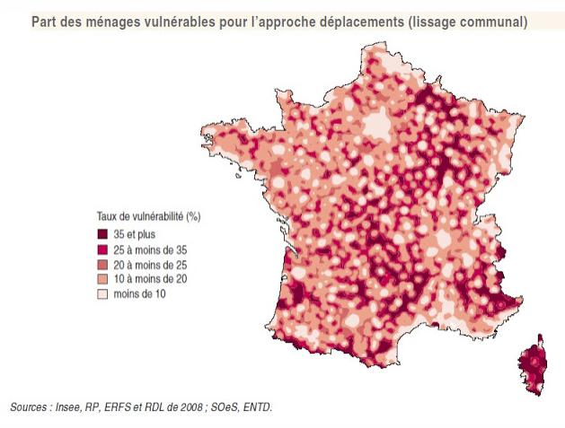 carte france vulnérabilité déplacements