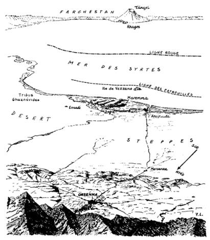 La carte des Syrtes selon Yves Lacoste