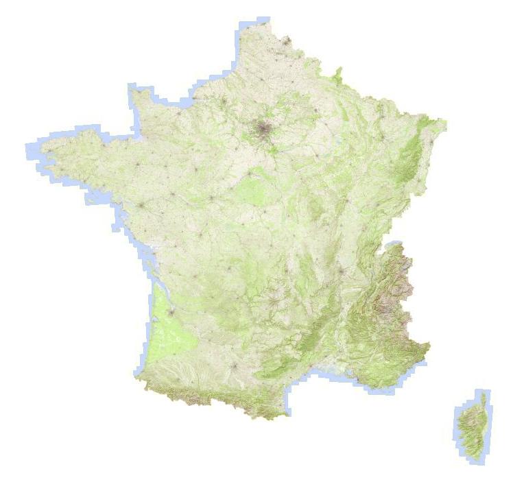 La carte topographique de l'IGN à l'échelle France