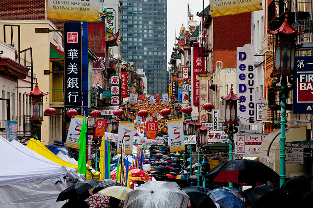 Chinatown un jour de pluie San Francisco photo