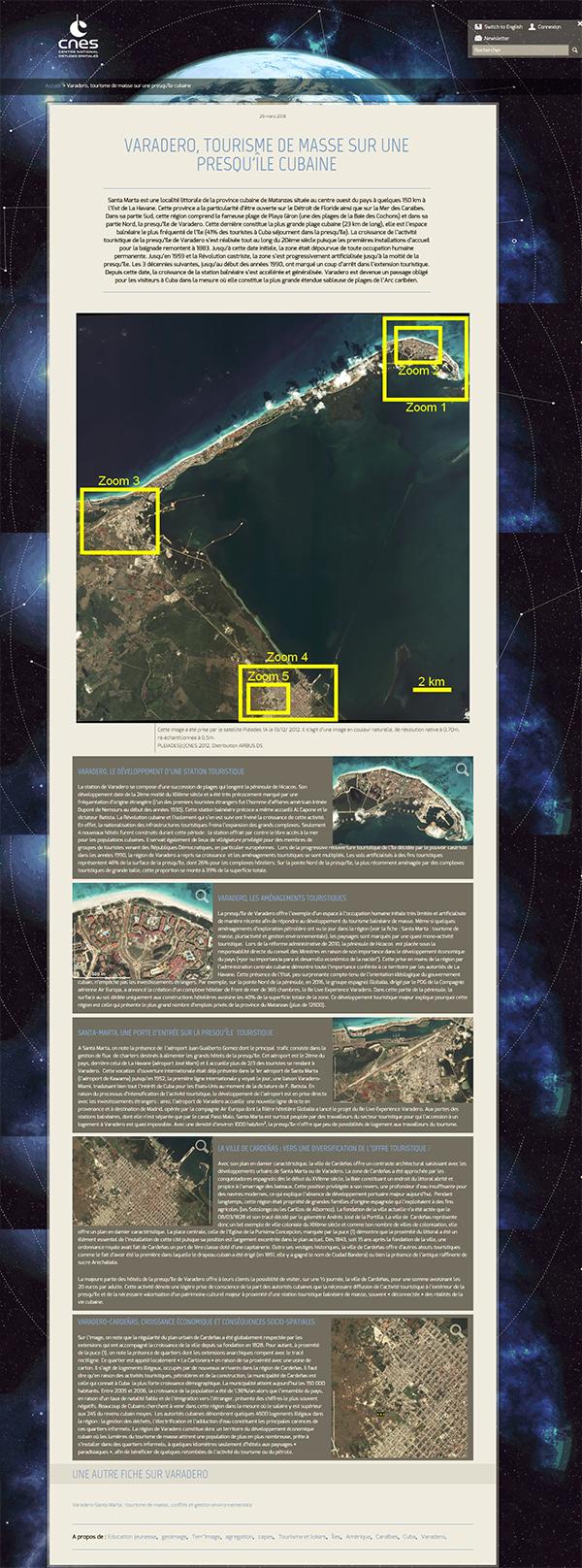 capture CNES tourisme à Cuba