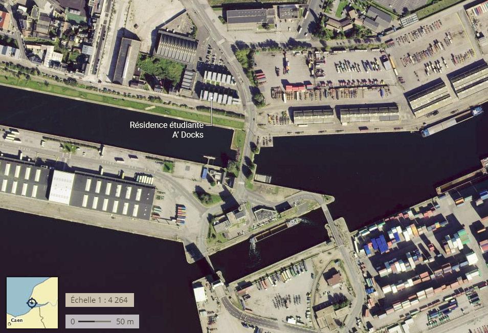Le Havre résidence étudiante dans des conteneurs