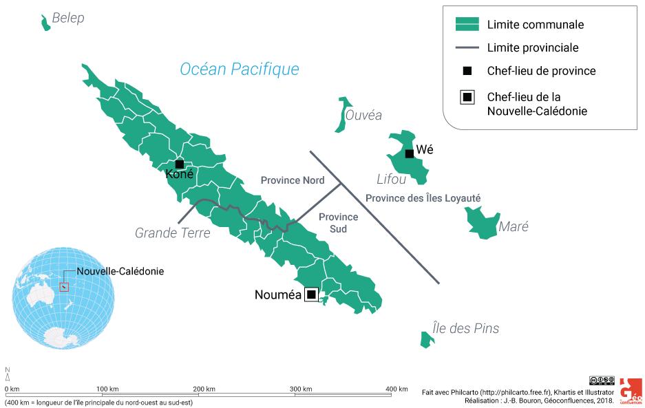Carte Nouvelle-Calédonie