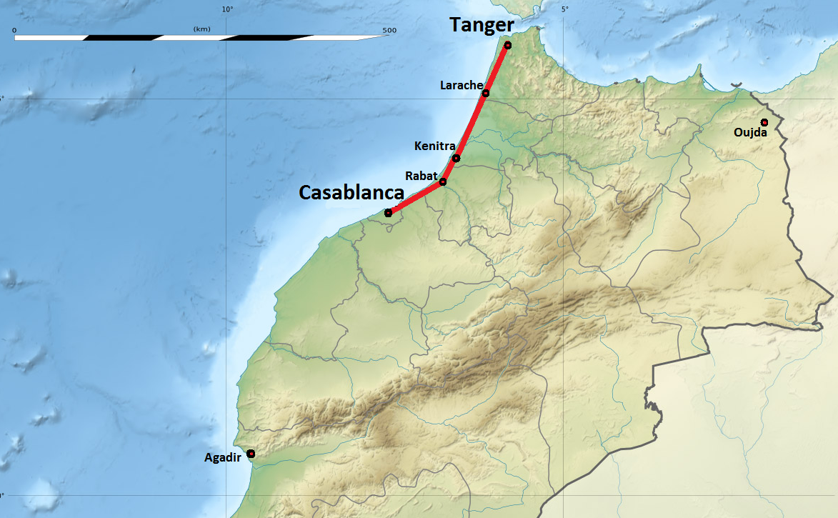 Carte TGV Maroc