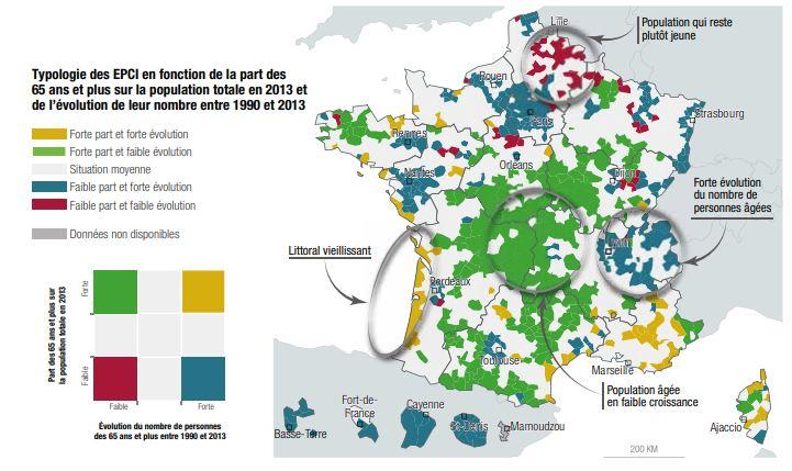 carte vieillissement en France prospective territoires