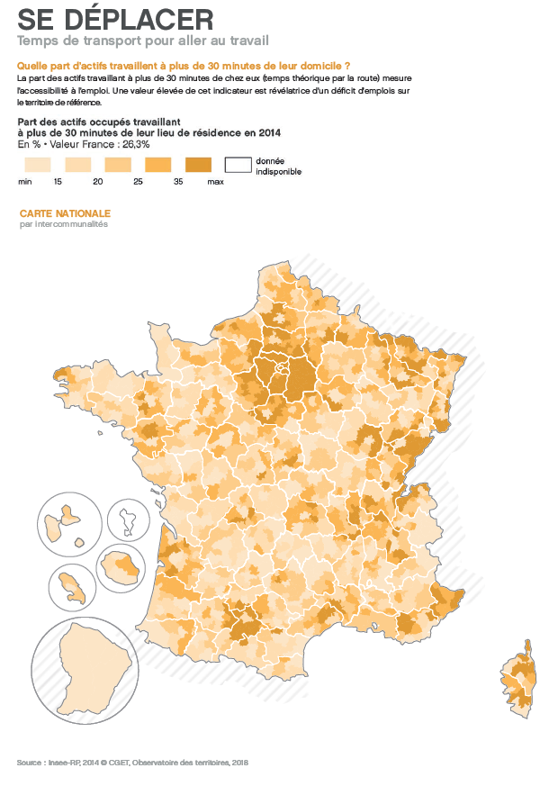 carte du CGET se déplacer en France