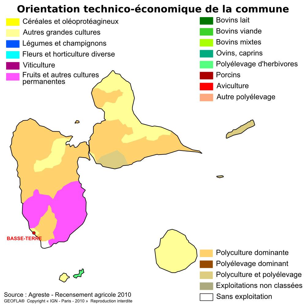 Carte OTEX Guadeloupe